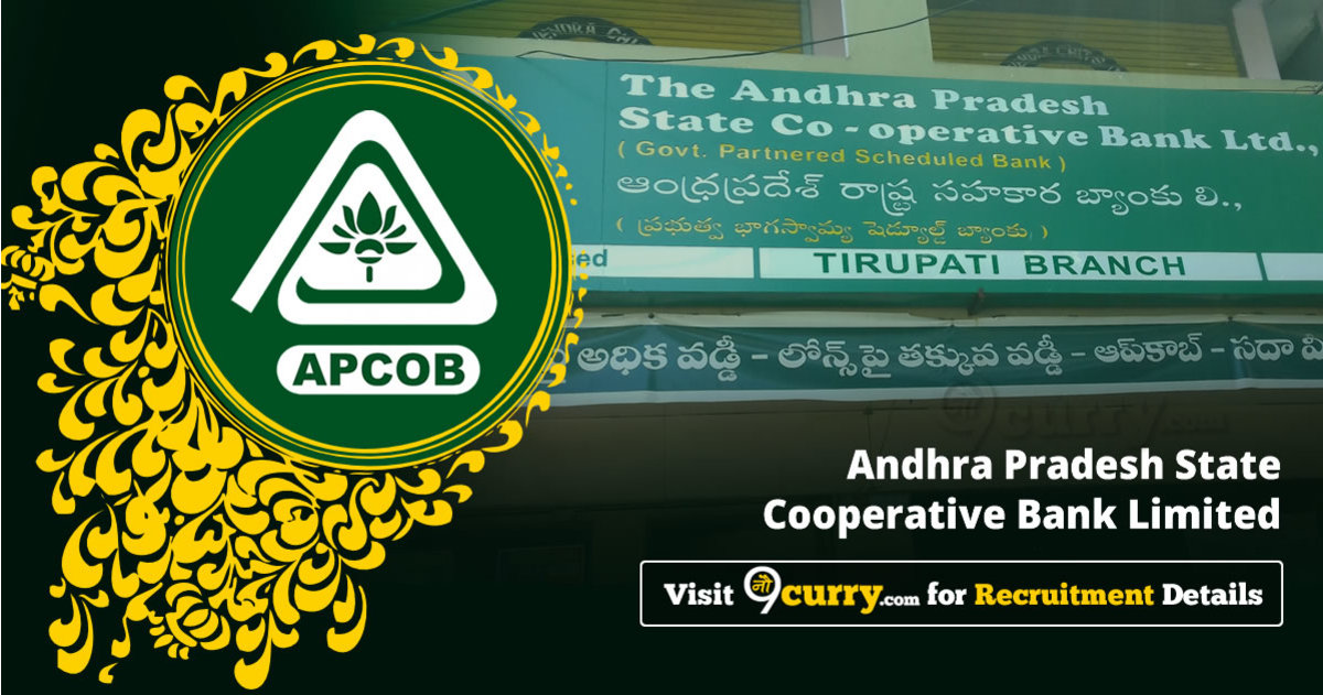 APCOB Recruitment 2020 Apply Online Job Vacancies 10 June 2020