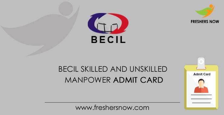 BECIL Manpower Admit Card 2020