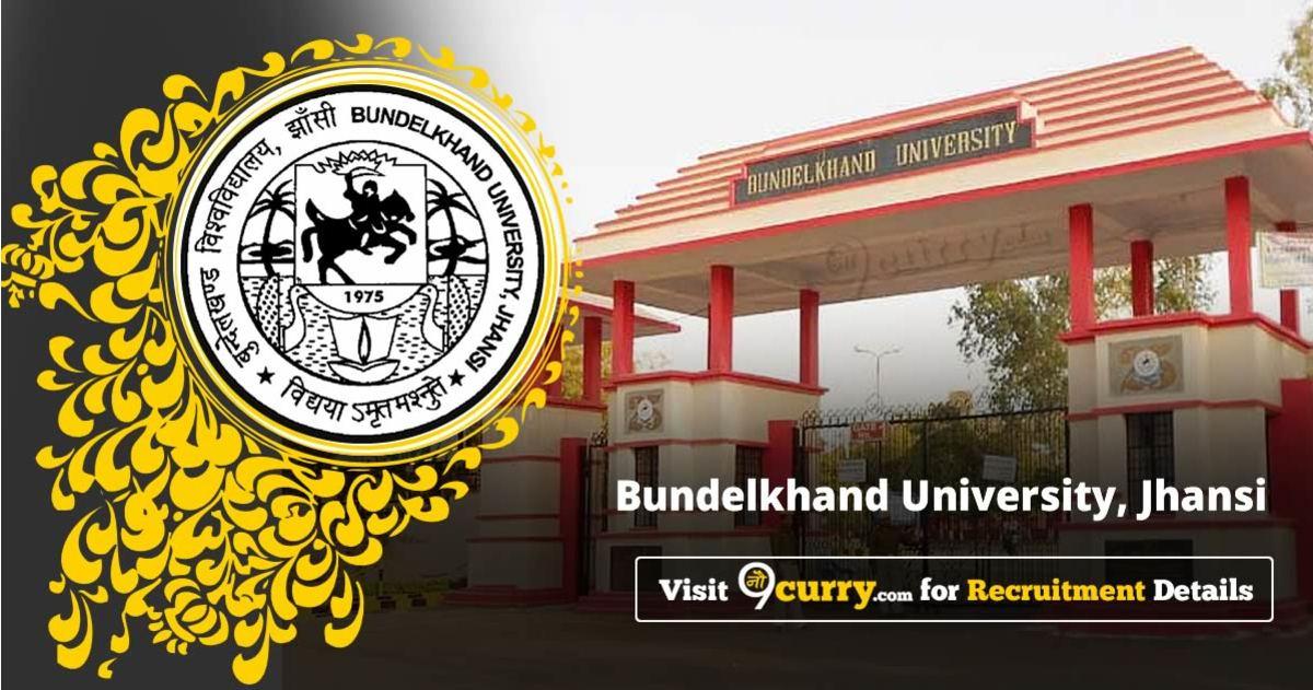 BU Jhansi Recruitment 2020 Apply Online Job Vacancies 08 June 2020