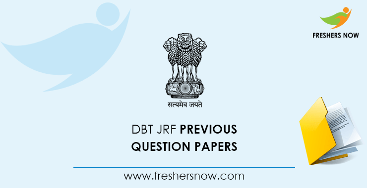 DBT JRF Previous Question Papers PDF Download