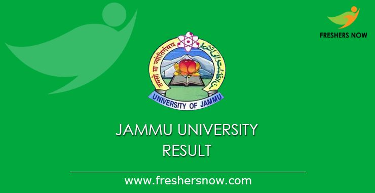 Jammu University Results 2020 (Out)   B.Sc, BA, B.Com, M.A, M.Com