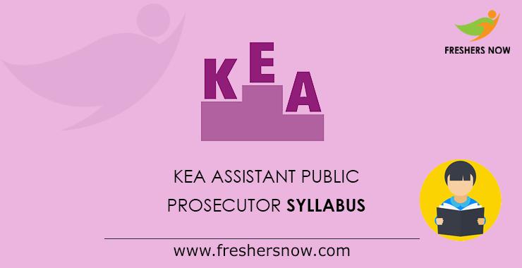 KEA Assistant Public Prosecutor Syllabus 2020