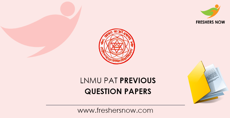 LNMU PAT Previous Question Papers