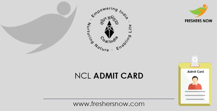 NCL Paramedical Admit Card 2020