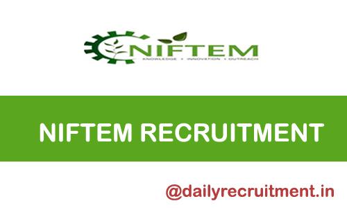 Recruitment NIFTEM 2020