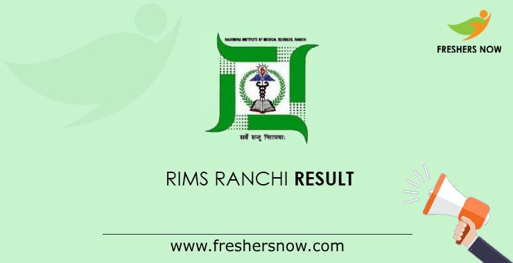 RIMS Ranchi Staff Nurse Result 2020 | Grade A Cut Off Marks, Merit List