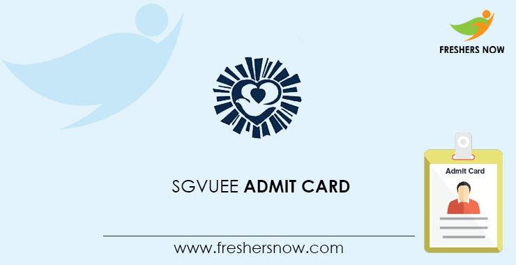 SGVUEE Admit Card 2020
