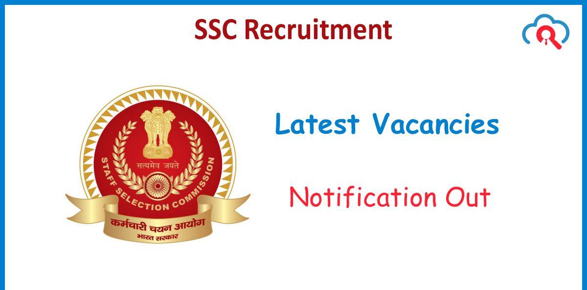 SSC JHT Recruitment 2020 Freejobalert