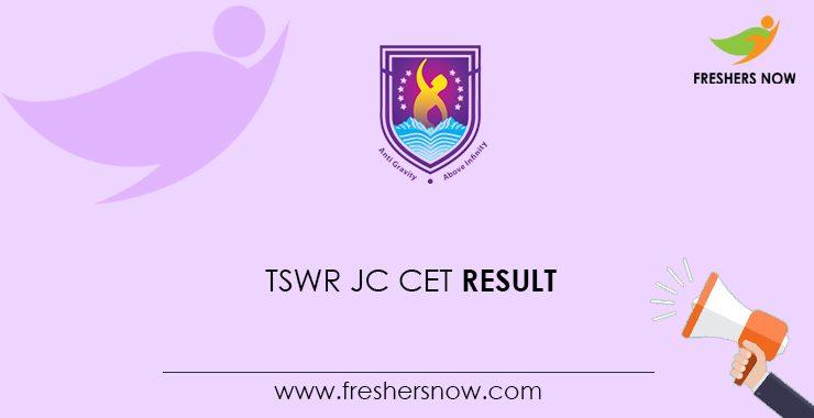 TSWR JC CET 2020 Result
