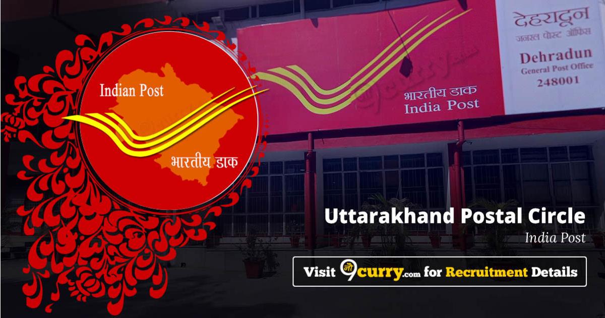 Uttarakhand Postal Circle Recruitment 2020 Apply Online 724 Job Vacancies 08 June 2020