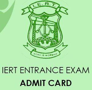 IERT Entrance Exam Admit card 2020