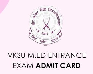 VKSU M.Ed 2020 Admit card