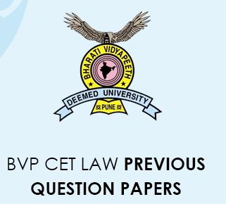 BVP CET Law previous question Papers