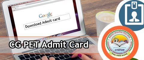 CG PET Admit Card 2020