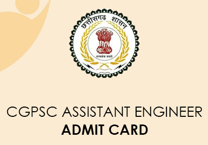 CGPSC Assistant Engineer Admit Card 2020