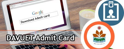 DAVUET Admit Card 2020