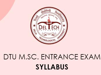 DTU M.Sc. 2020 entrance exam pattern