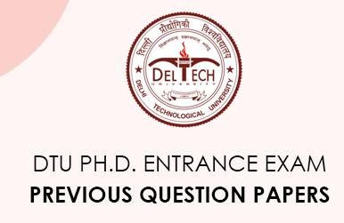 DTU Ph.D. Entrance Exam previous questions
