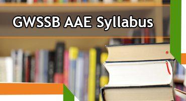 GWSSB AAE Syllabus 2020