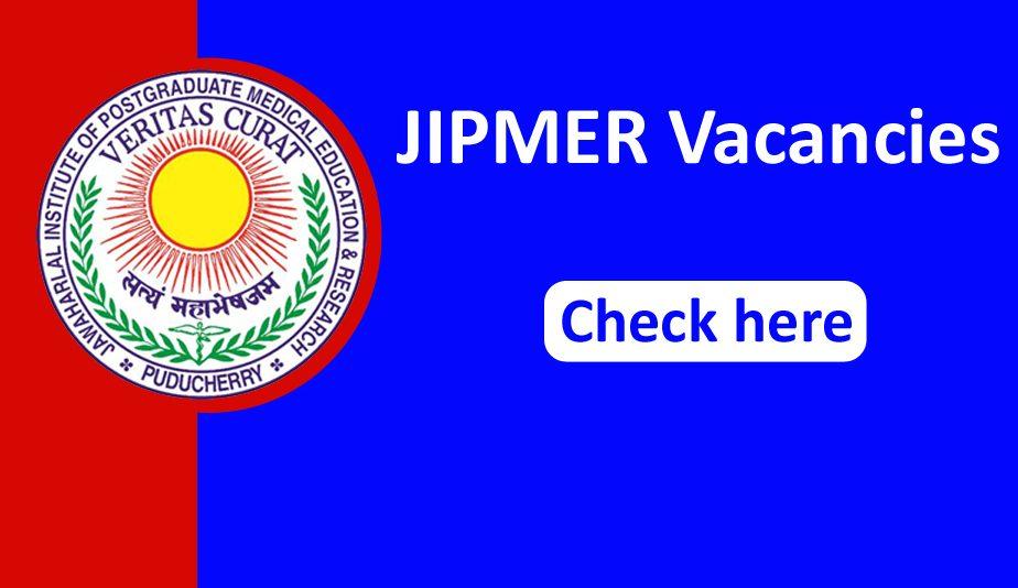 JIPMER Senior Resident Recruitment 2020