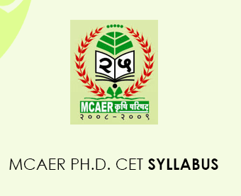 MCAER Ph.D. CET 2020 Syllabus