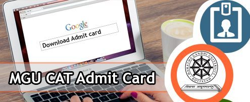 MGU CAT Admit Card 2020