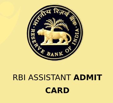 RBI Assistant 2020 Admit Card