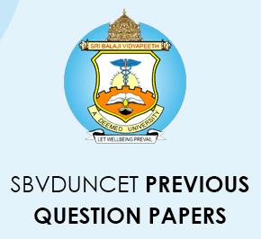 SBVDUNCET previous questions Paper