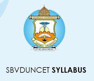 SBVDUNCET Syllabus 2020