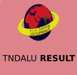 TNDALU Result 2020