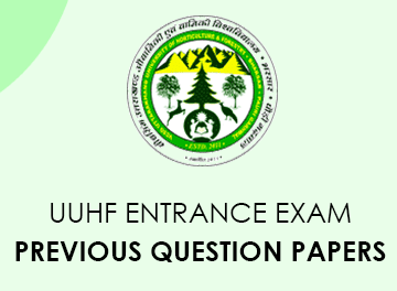 UUHF Entrance Exam Documents from previous questions Download PDF