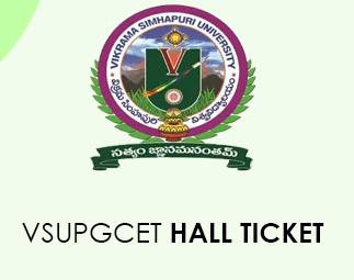 VSUPGCET Hall Ticket 2020