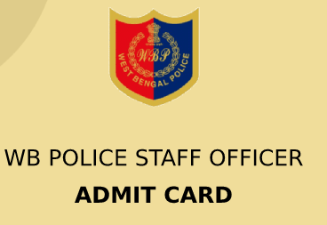 WB Police Officer Admit Card 2020