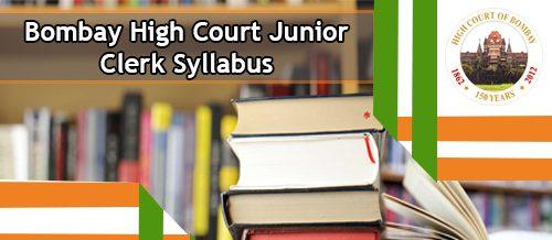 Bombay High Court Secondary Clerk Syllabus 2020
