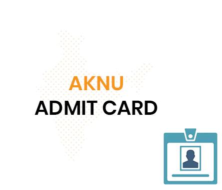 AKNU Hall Ticket 2020