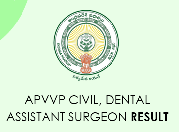 APVVP Civil Assistant Surgeon Result 2020