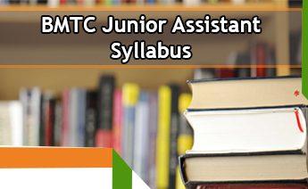 BMTC Junior Assistant Syllabus 2020