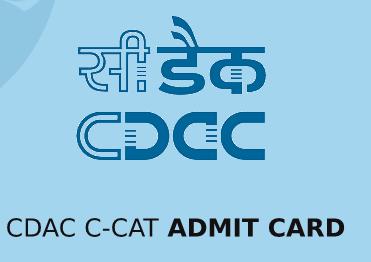 CDAC C-CAT Admit Card 2020