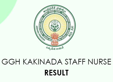 GGH Kakinada Staff Nurse Result 2020