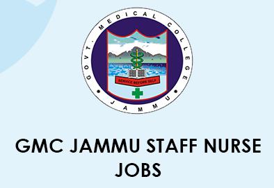 GMC Jammu Staff Nurse Job 2020