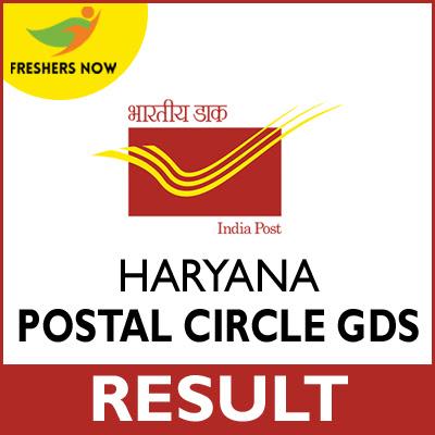 Haryana Postal Circle GDS Result 2020