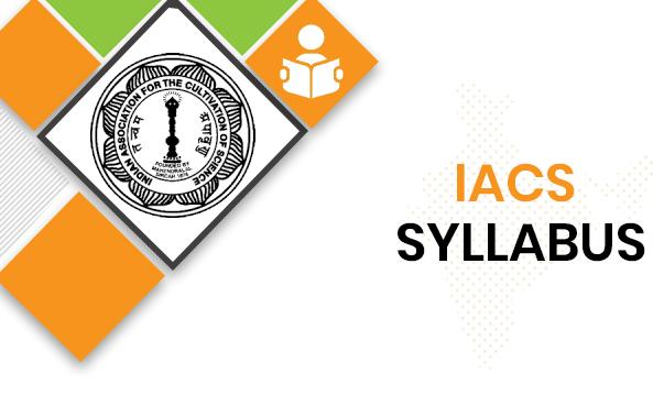 IACS MTS Syllabus 2020