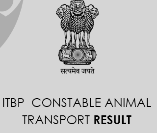 ITBP Constable Animal Transport Result 2020