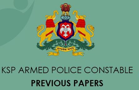 KSP Armed Police Constable Previous Question Papers