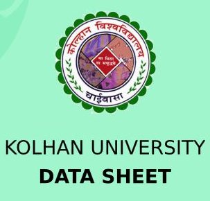 Kolhan University Data Sheet 2020
