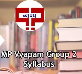 MP Vyapam Group 2 Syllabus 2020