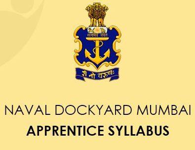 Naval Dockyard Mumbai Apprentice Syllabus 2020