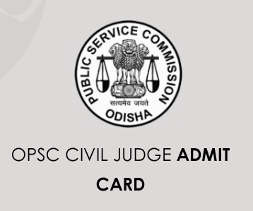 OPSC Civil Judge Admit Card 2020