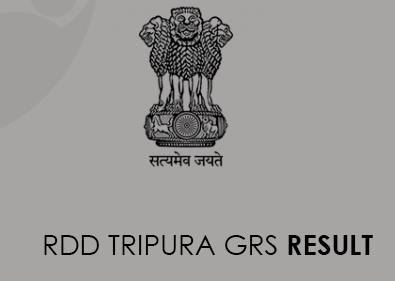 RDD Tripura GRS 2020 result