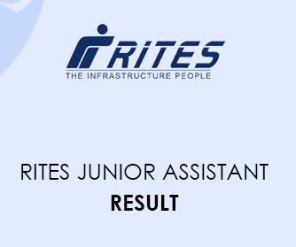 RITES Junior Assistant Result 2020